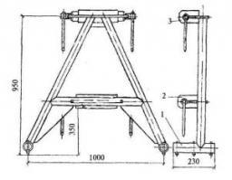 Опора для крепления панелей внутренних стен, Зев 100-260 мм