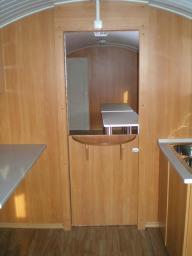 Вагон дом мобильный БАШКИРИЯ - 9СтКСМ (ПЕРЕДВИЖНАЯ СТОЛОВАЯ. Столовая с кухней и спальным местом для повара, на 8 мест )