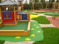 Покрытие ля детских площадок