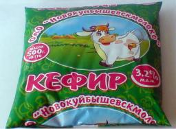 Кефир (жирность 3.2%, упаковка финпак)