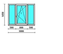 Окно трехстворчатое Rehau в 137- серию