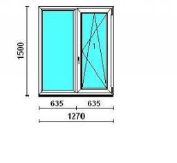 Окно двухстворчатое Rehau-Euro-Design