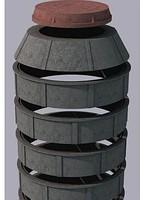 Колодец полимерно-песчаный сборный 1000 мм