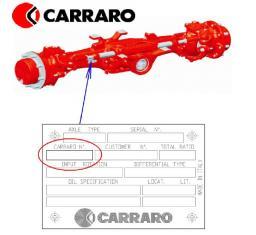 Запчасти к мостам и трансмиссиям Carraro