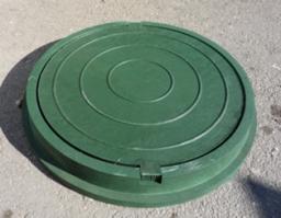 Люк полимерпесчаный, зеленый (до 3 т)