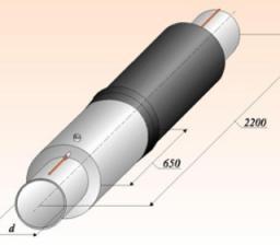 Концевые элементы трубопровода с кабелем вывода