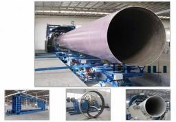 Непрерывная линия по производству стеклопластиковых труб