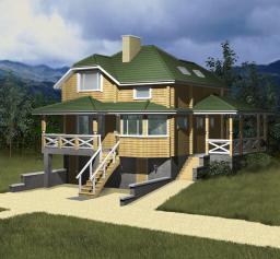 Строительство дома из дерева площадью 136 кв.м