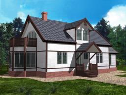 Строительство дома площадью 210 кв.м