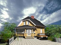 Строительство дома площадью 91 кв.м
