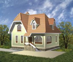 Деревянный дом на 132 кв.м