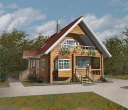 Загородный дом площадью 116 м2