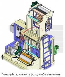Экструдер для производства рукавной пленки ПНД/ПВД, серии МВ – мини.