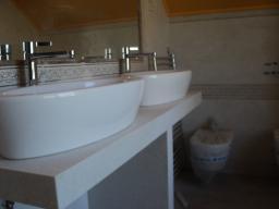 Подстолье из искусственного камня SANANS в ванную комнату