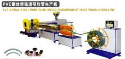 Линия для производства прозрачных шлангов PVC , армированных стальной проволокой