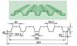 Профнастил Н57 - 750