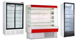 Холодильный шкаф для магазинов. Ассортимент.