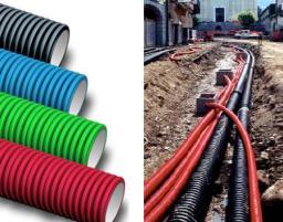 Двухслойные профилированные трубы Электрокор для кабельных каналов