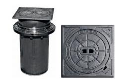 Люк чугунный с телескопическим удлинением и адаптером (12,5 т)