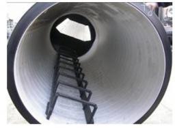 Стальные лестницы для шахт колодцев