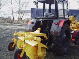 Щетка дорожная с механическим приводом для трактора МТЗ, ЮМЗ