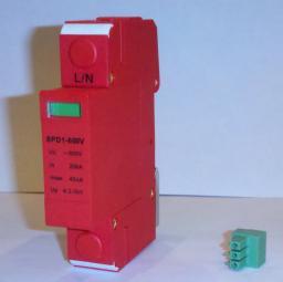 Информация не обновлялась более 6... 720.  Ограничитель импульсных перенапряжений ОПС1-600V (SPD1-1-600V) .