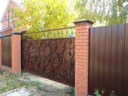 Автоматические ворота, навес для авто, забор