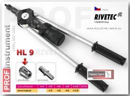 Заклепочник ручной для резьбовых заклепок RIVETEC HL9