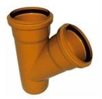 Тройник ПВХ 110*110*87 для наружной канализации