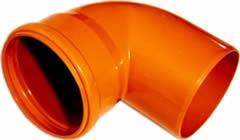 Отвод ПВХ 200*87 для наружной канализации