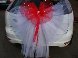 Бант на свадебный автомобиль