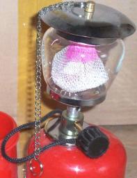 Фонарь лампа газовая