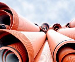 Трубы полипропиленовые гофрированные с двойной стенкой для наружных сетей бытовой и ливневой канализации тип ПРАГМА