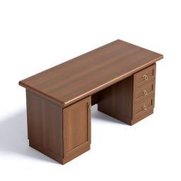 Стол письменный, двухтумбовый, комплект с эко кожей