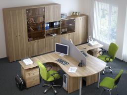 Мебель для персонала ОПТИМА (скандинавская вишня)