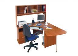 Мебель для персонала ДИНАМИКА - рабочее место с полкой