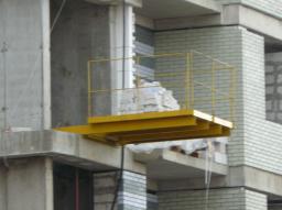 Площадка выносная для грузов ПВ 2,0-2,0-2т. с деревянным настилом