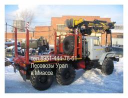 Лесовозный тягач на базе Урал 2018 г. с новым кму Омтл-97