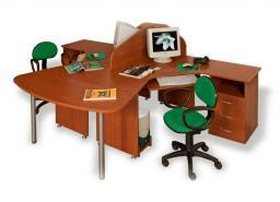Мебель для персонала ДИНАМИКА - рабочее место двойное