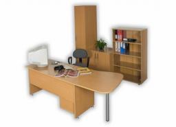 Мебель для персонала ДИНАМИКА - рабочее место со шкафами