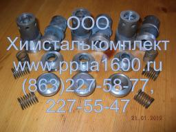 Клапан всасывающий в сборе насоса 2,3ПТ25, плунжер 2,3ПТ25, комплект РТИ насоса 2,3ПТ25Д2, плунжер насоса, запасные части ППУА 1600-100, АДПМ 12-150