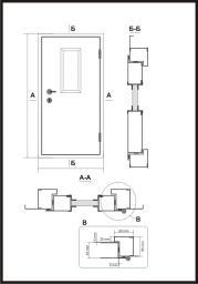 Дверь противопожарная 900 * 1600