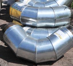 Отводы в оцинкованной оболочке (ОЦ) для надземной прокладки