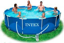 Каркасный бассейн intex - 54424, лестница,фильтр,видео.