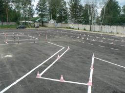 Строительство площадок для автошкол. Строительство площадок для автоцентров