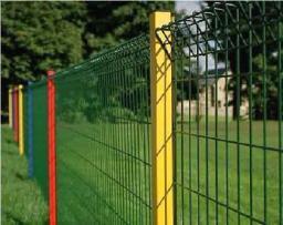 Забор-сетка и квадратный столб (с зажимами-клипсами)