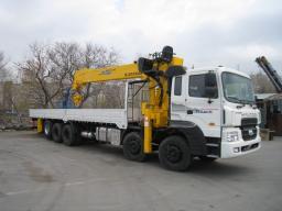 Бортовой грузовик Hyundai HD-320 г/п 25т + кран манипулятор
