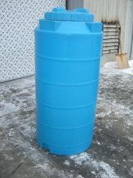 Емкость (бак) для воды вертикальная 500 литров 700х1400 мм с крышкой