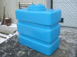 Емкость (бак) для воды прямоугольная 1 куб.м. 1300х1300х660 мм с крышкой