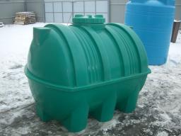 Емкость (бак) для воды горизонтальная 2 куб.м. 1379х1938 мм с крышкой